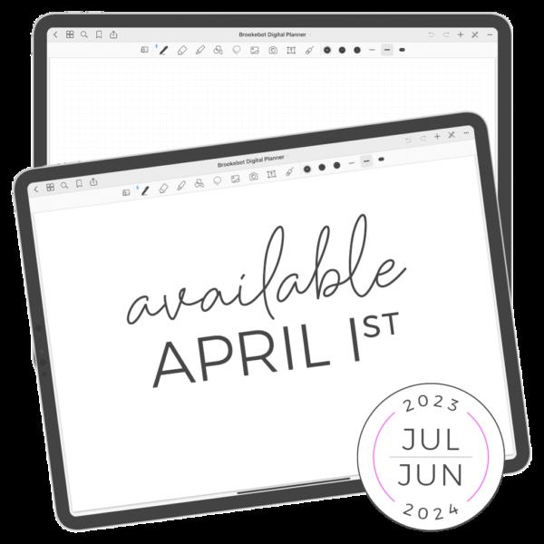 Available April 1st Jan Dec Digital Planner 22