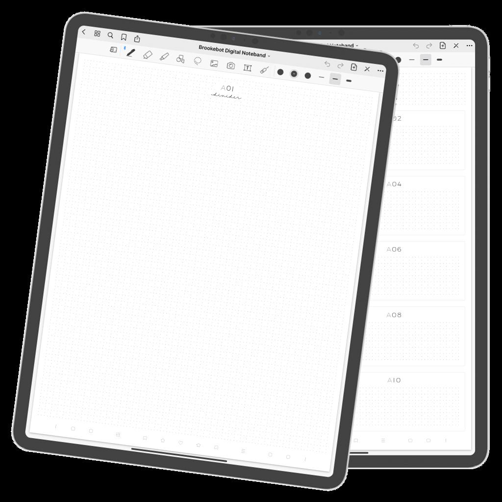 Brookebot Digital Noteband Divider