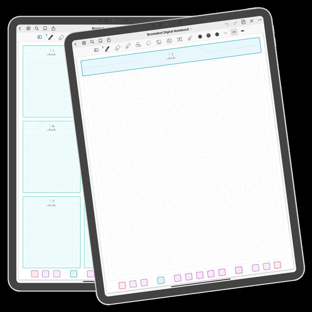 Brookebot Digital Noteband Note Book Binder Highlighted Links 01