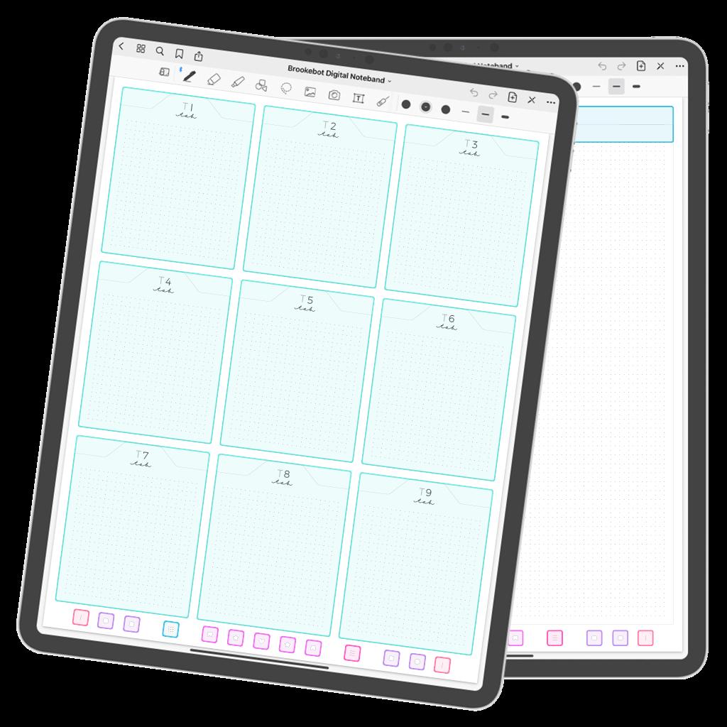 Brookebot Digital Noteband Note Book Binder Highlighted Links 02
