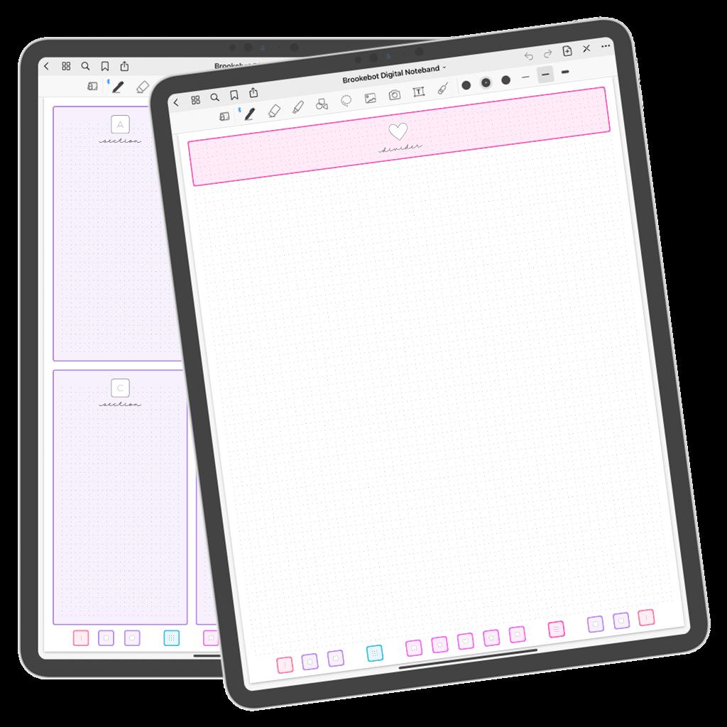 Brookebot Digital Noteband Note Book Binder Highlighted Links 03
