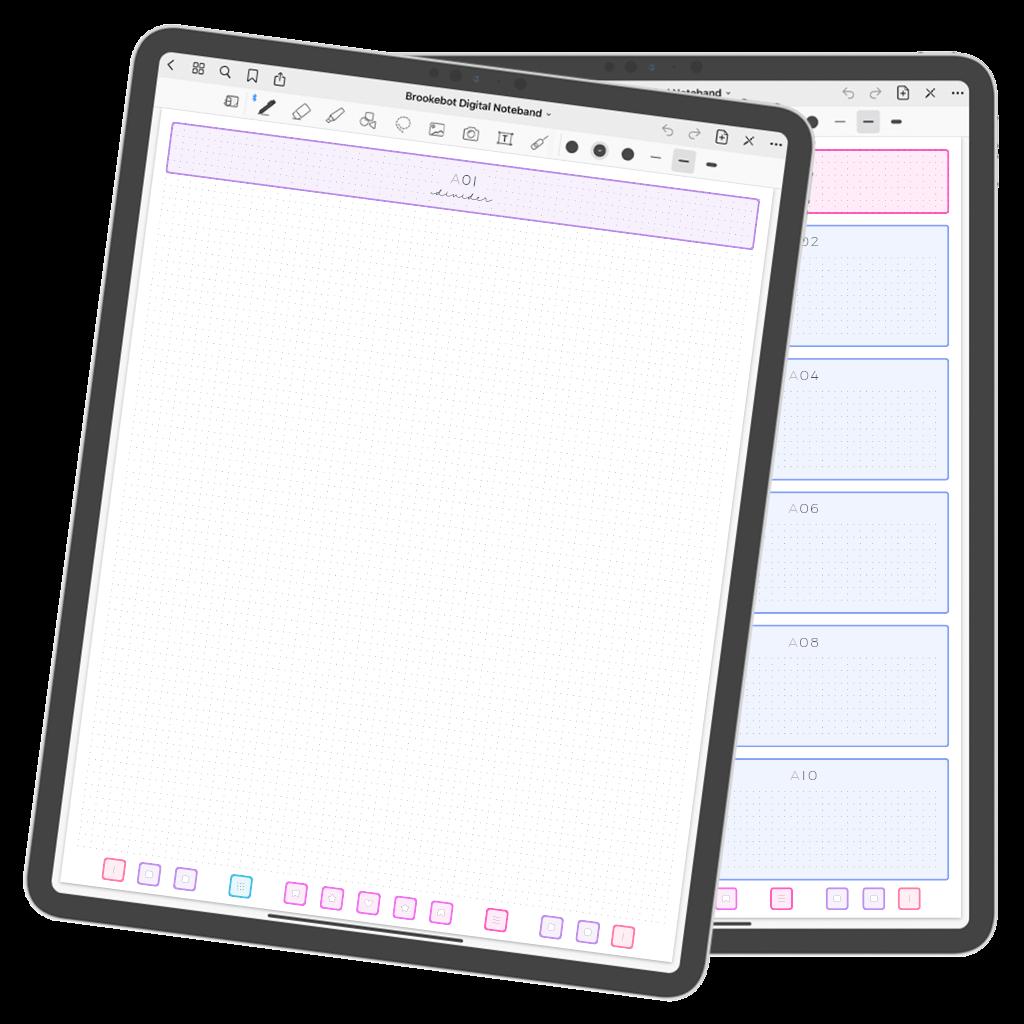 Brookebot Digital Noteband Note Book Binder Highlighted Links 04