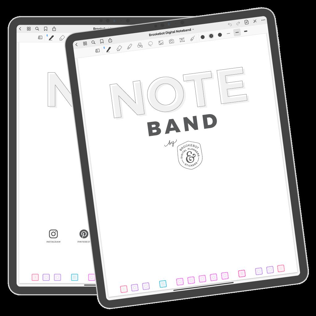Brookebot Digital Noteband Note Book Binder Highlighted Links 07