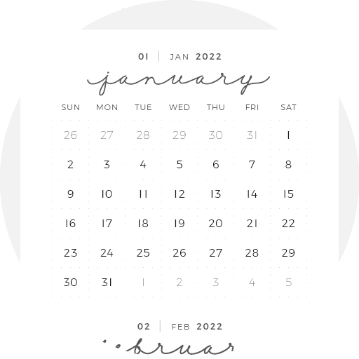 Digital Planner January December Year Month Week Day 14