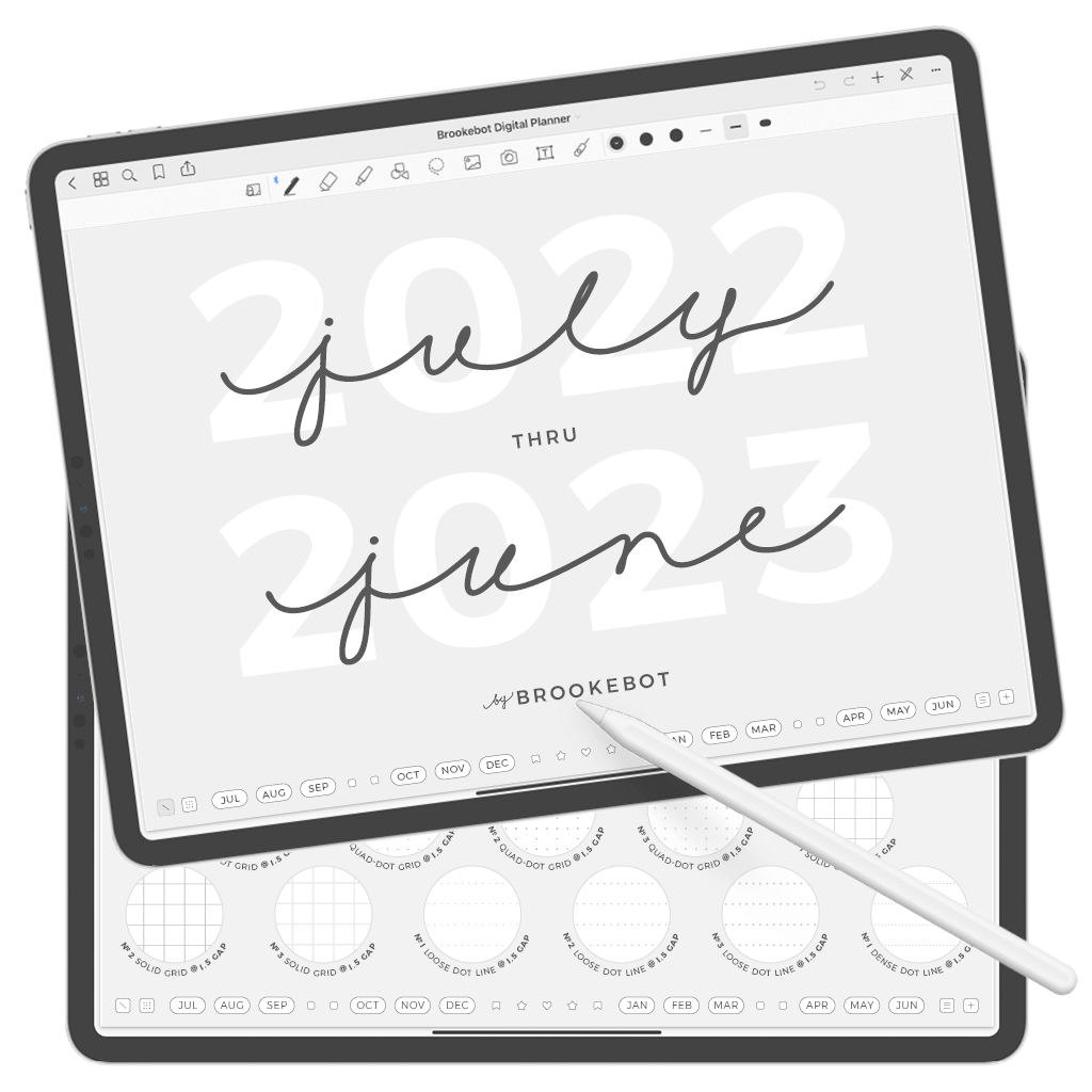 Digital Planner July June Cover 01