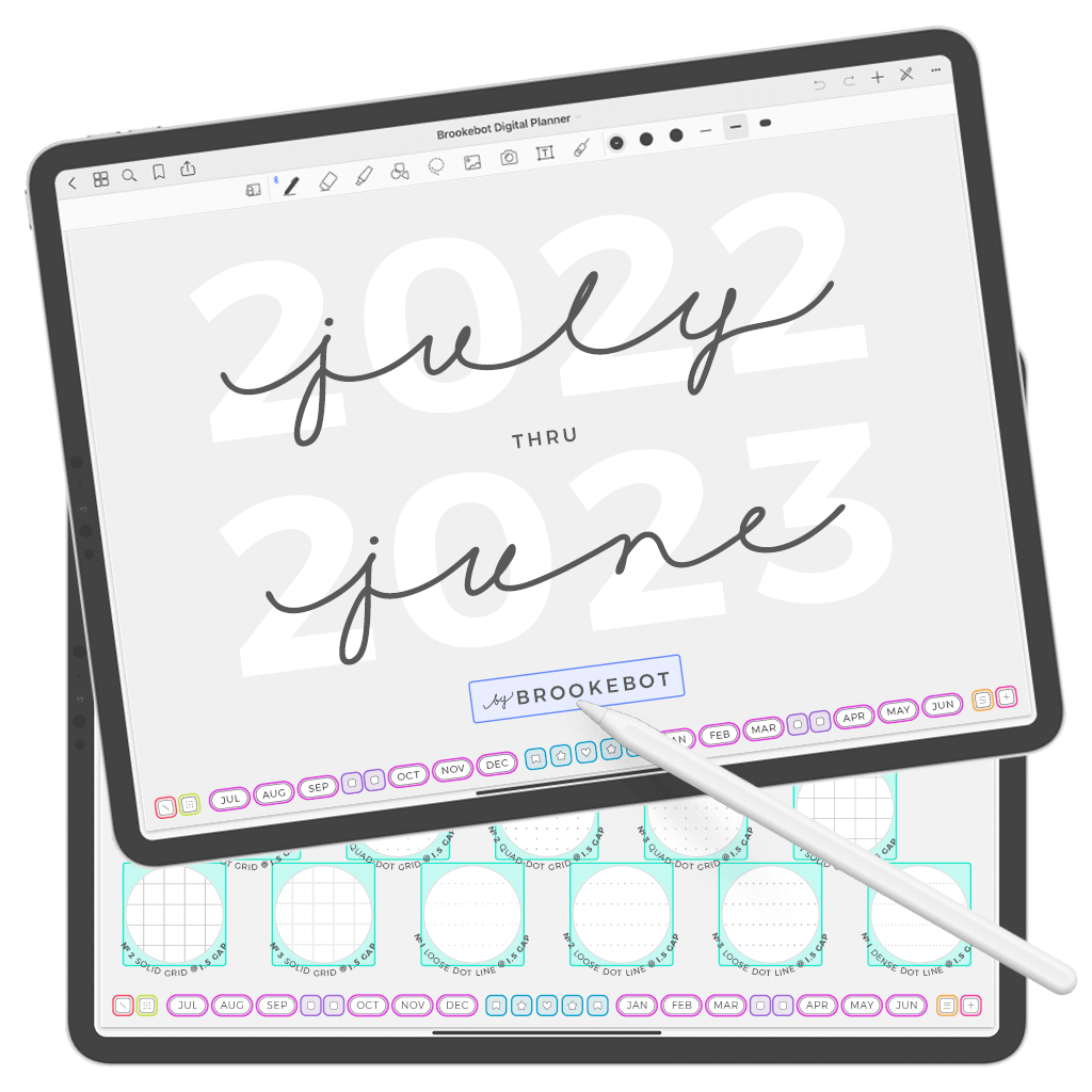 Digital Planner July June Cover 02