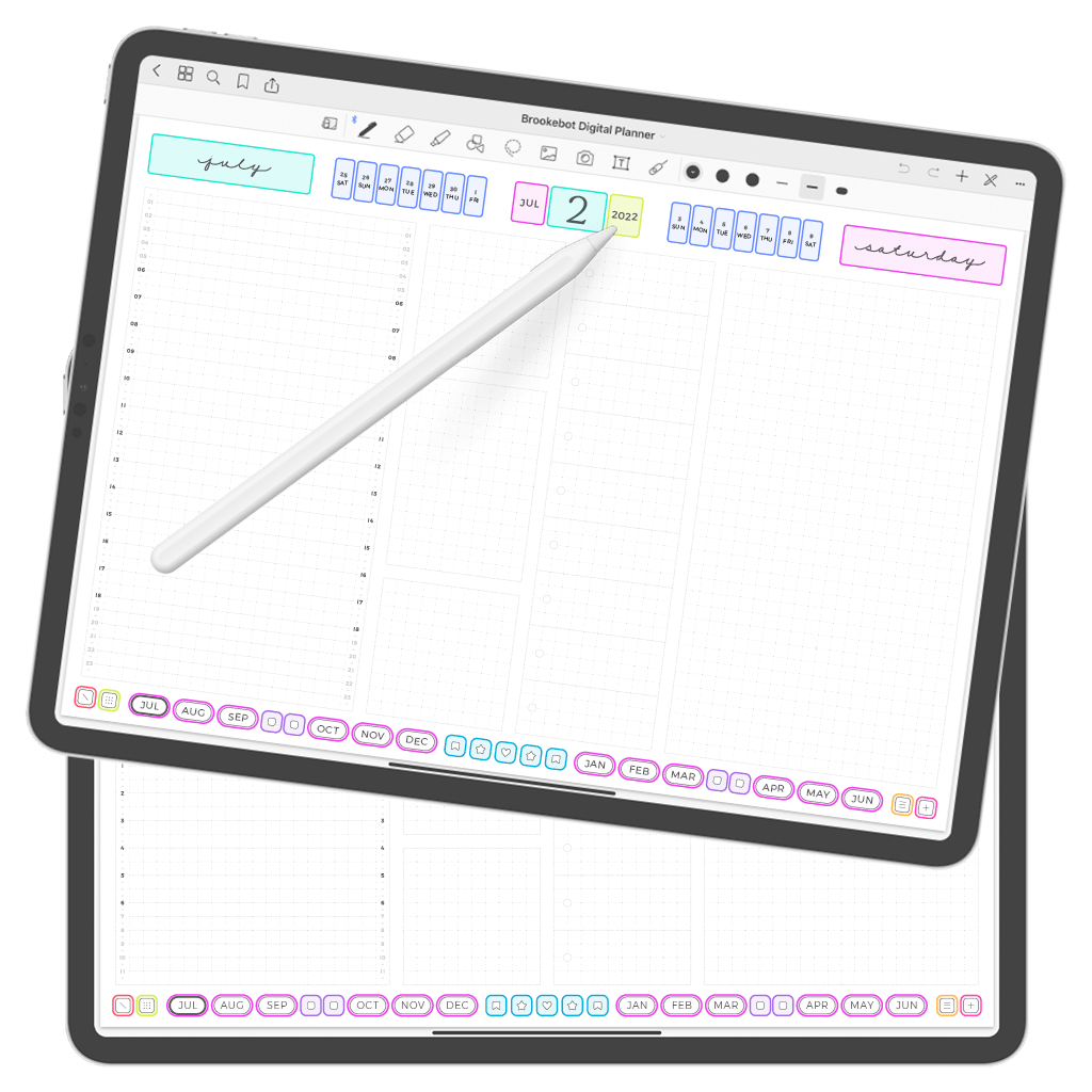 Digital Planner July June Day 02