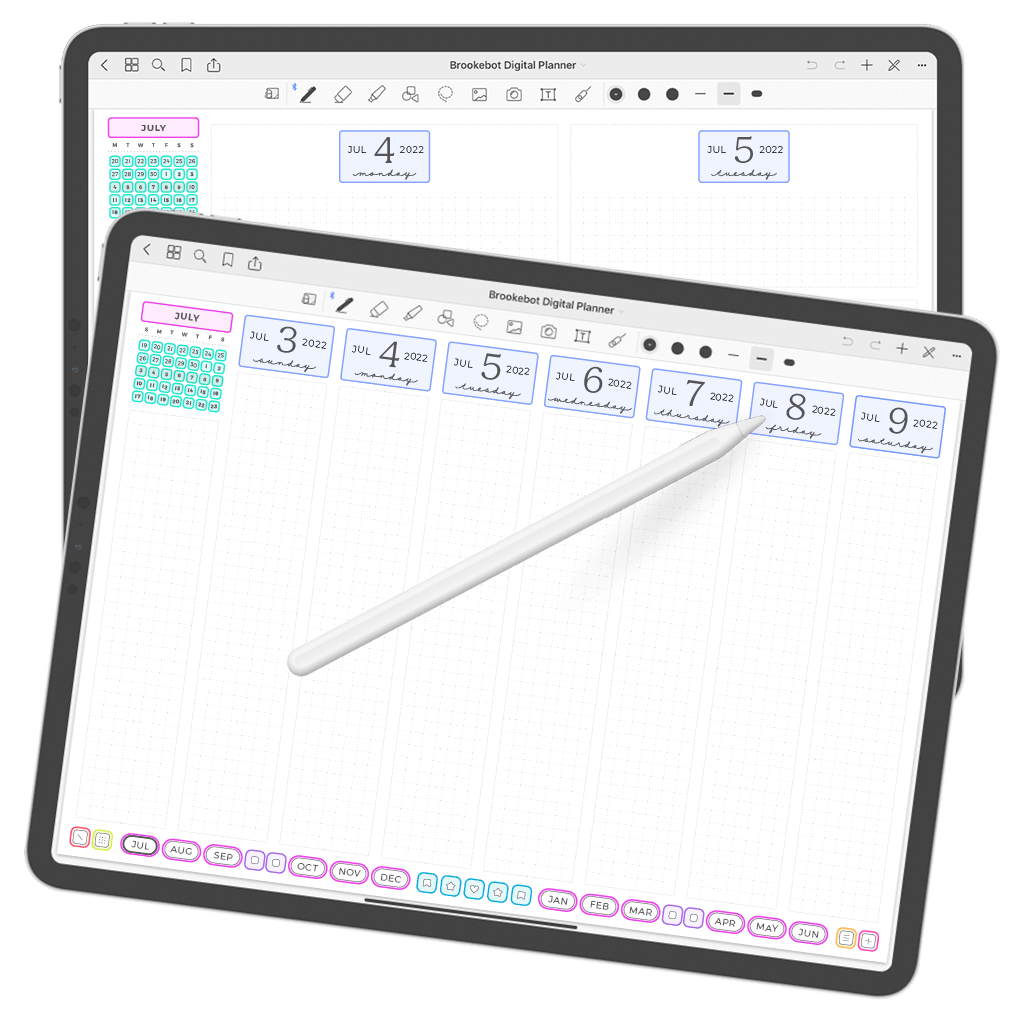 Digital Planner July June Week 02
