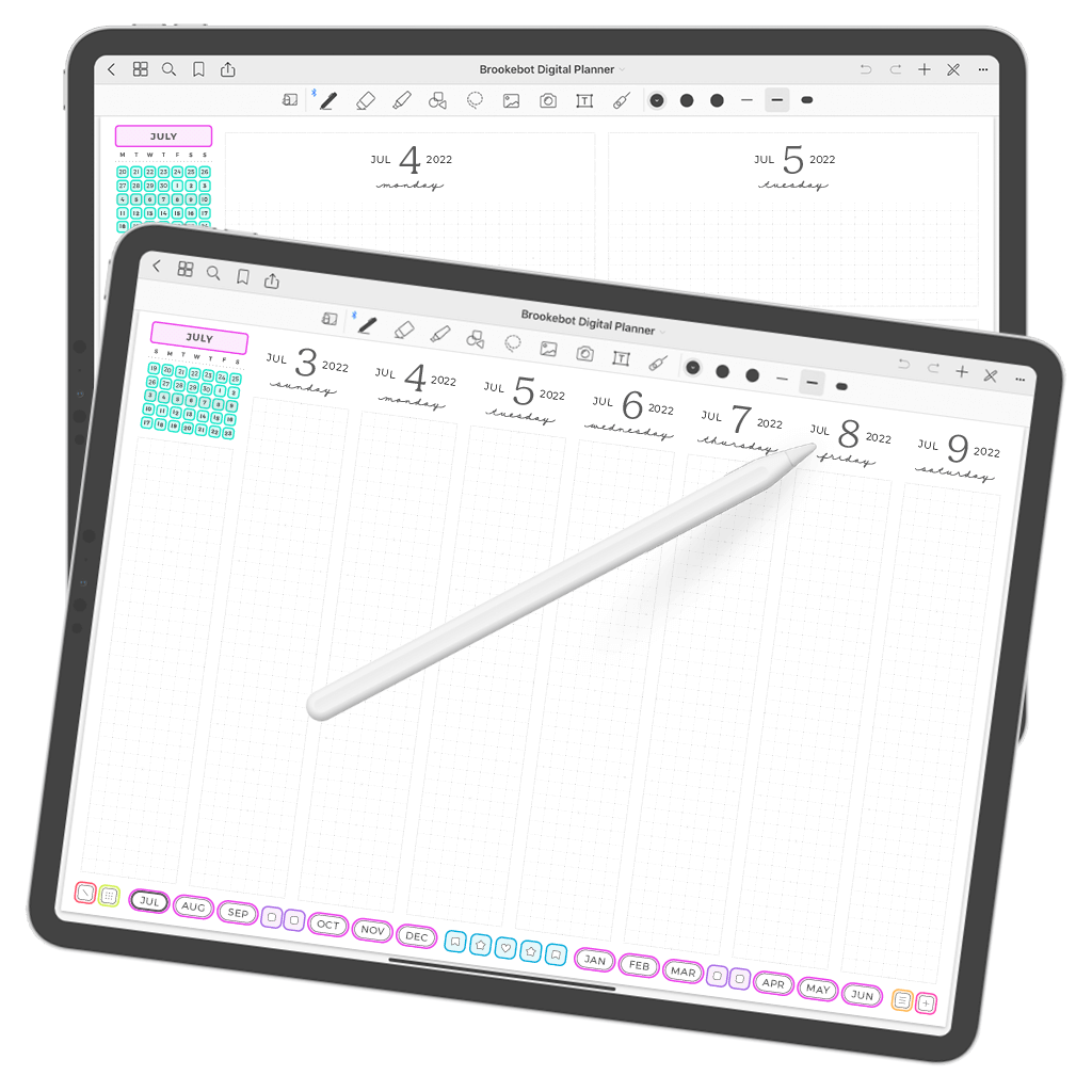 Digital Planner July June Week 03