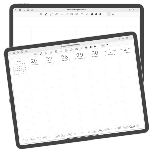 Digital Planner July June Week 07