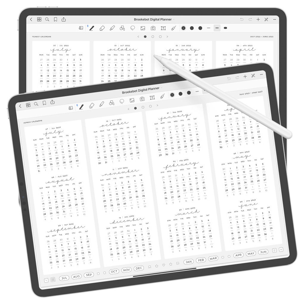 Digital Planner July June Year 03