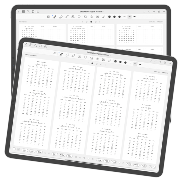 Digital Planner July June Year 07