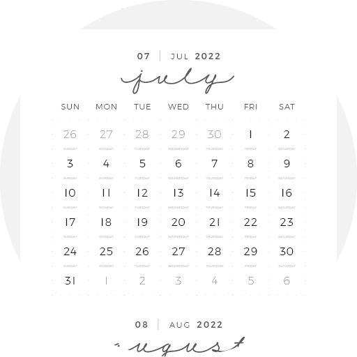 Digital Planner July June Year Month Week Day 14