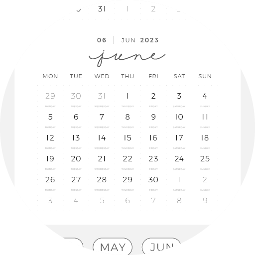 Digital Planner July June Year Month Week Day 15