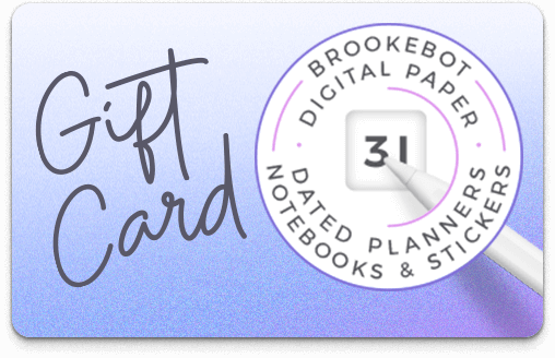 Brookebot Digital Gift Card All Purpose Frosted Plum