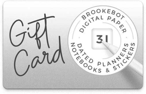 Brookebot Digital Gift Card All Purpose Simple Gray