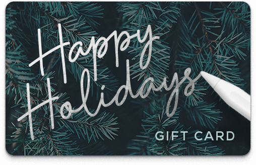 Brookebot Digital Gift Card Happy Holidays Evergreen Tree