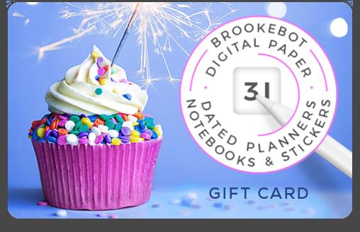 Brookebot Digital Gift Card Special Occasion Cupcake Sparkler