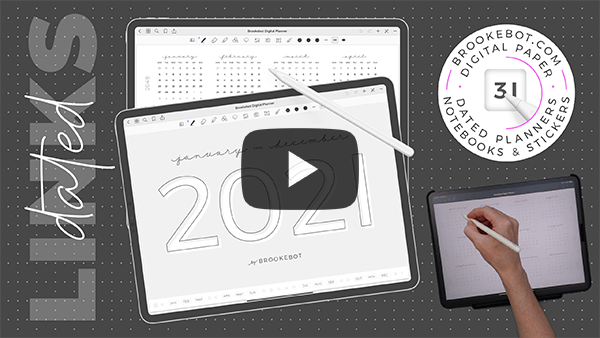 2021 Brookebot Digital Planner Dated Video