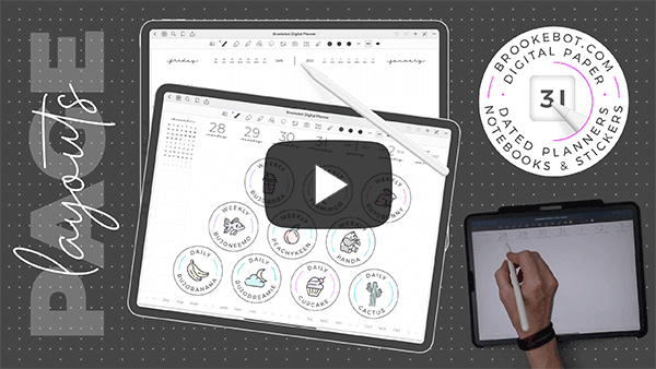2021 Brookebot Digital Planner Layouts Video